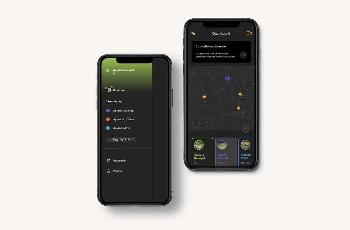 Schermate app creazione arnia