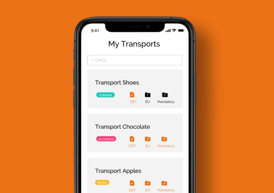 App logistica smartphone