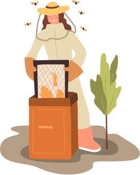 Icona apicoltore al lavoro