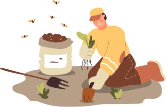 Icona apicoltore in raccolta