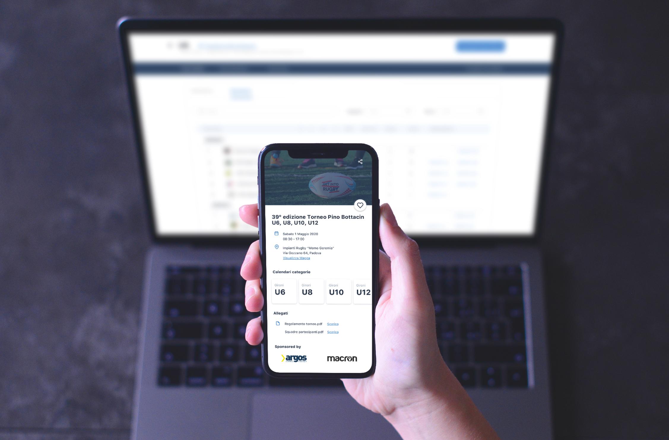Schermate utilizzo app smartphone e desktop