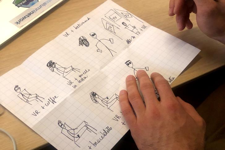 Team al lavoro sui disegni