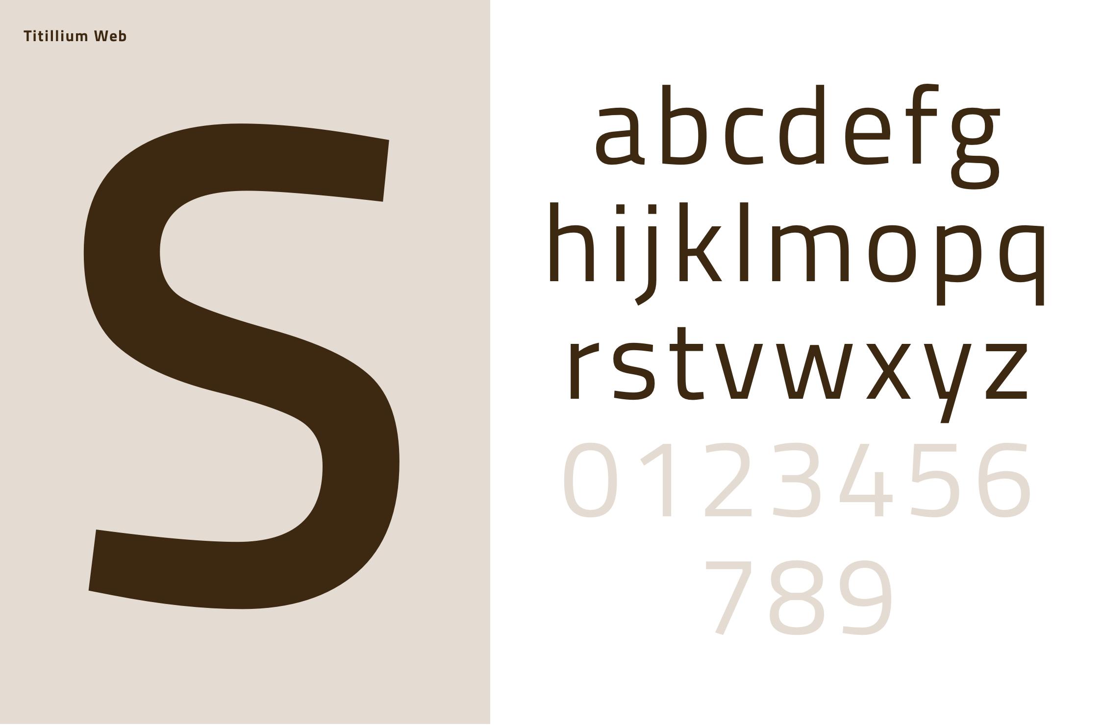 Studio della font per la piattaforma