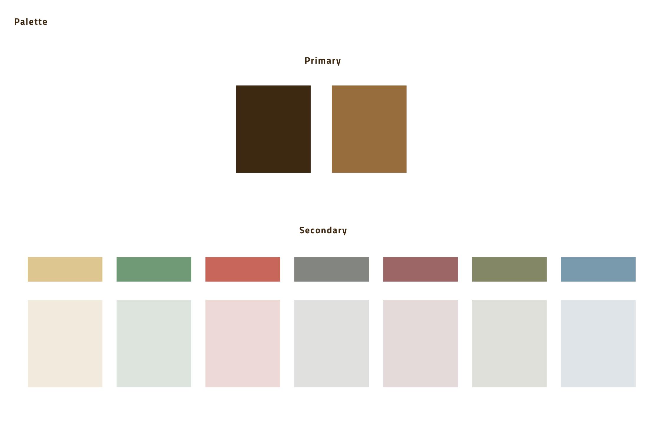 Studio della palette colori della piattaforma
