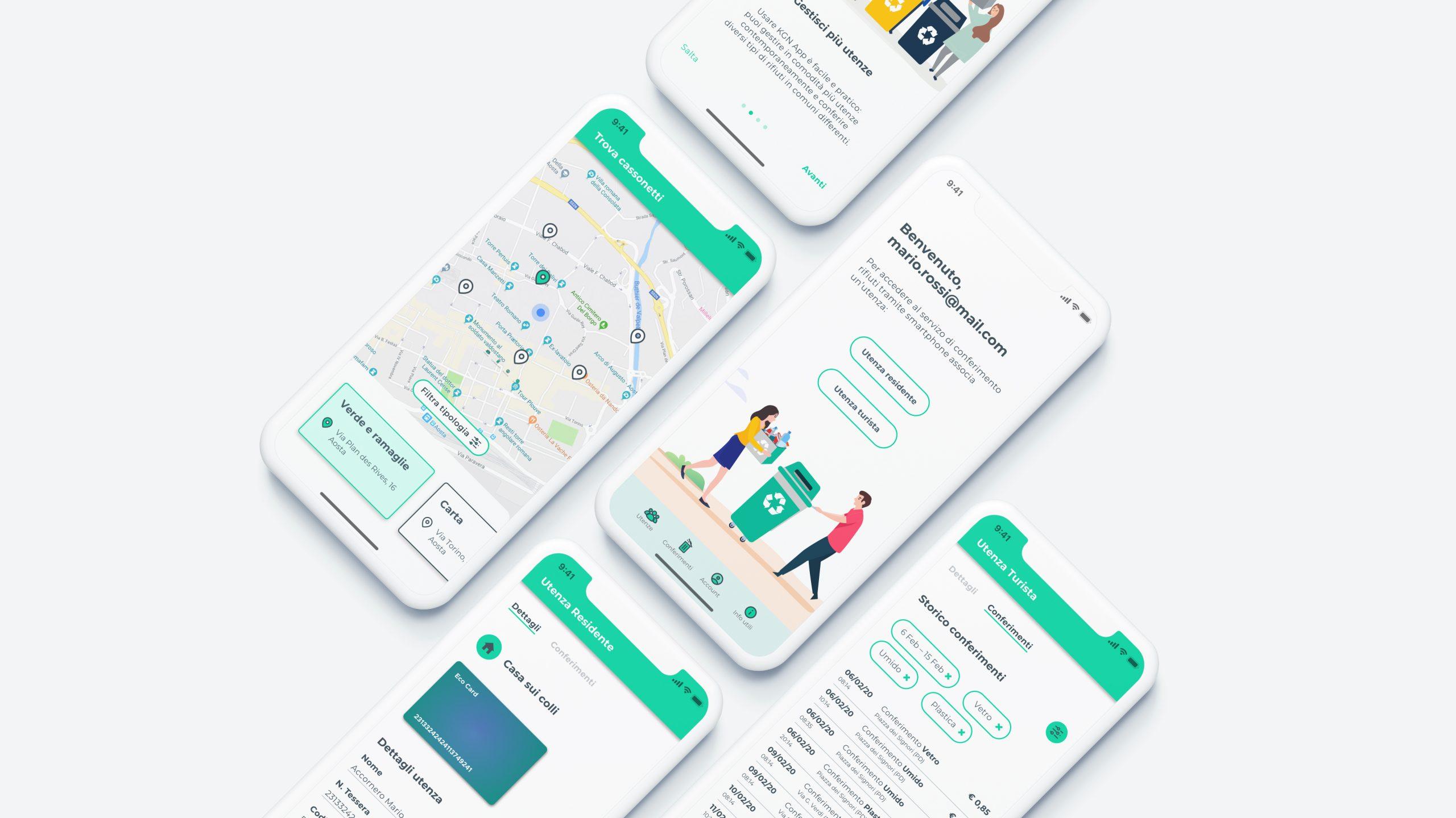 Mockup app mobile iot KGN